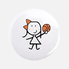 """Girl & Basketball 3.5"""" Button"""