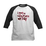 I Poop On Valentine's Day Kids Baseball Jersey