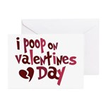 I Poop On Valentine's Day Greeting Cards (Pk of 20