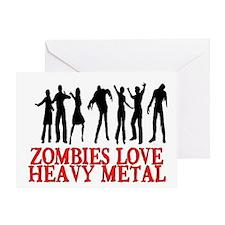 ZOMBIES LOVE HEAVY METAL Greeting Card