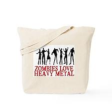 ZOMBIES LOVE HEAVY METAL Tote Bag