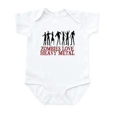 ZOMBIES LOVE HEAVY METAL Infant Bodysuit