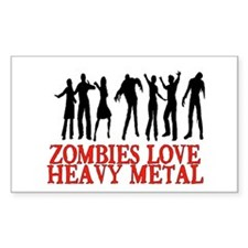 ZOMBIES LOVE HEAVY METAL Decal