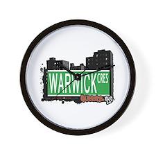 WARWICK CREST, QUEENS, NYC Wall Clock