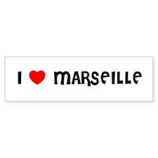 I LOVE MARSEILLE Bumper Bumper Sticker
