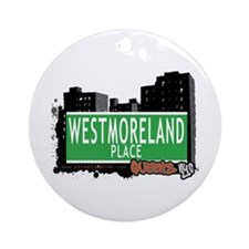 WESTMORELAND PLACE, QUEENS, NYC Ornament (Round)