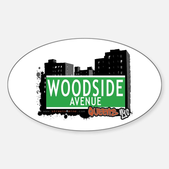 WOODSIDE AVENUE, QUEENS, NYC Oval Decal