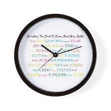 Agility Primer Wall Clock
