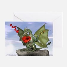 Green Dragon Valentine Greeting Card