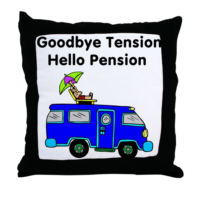 Retirement Throw Pillow By Topteedesigns