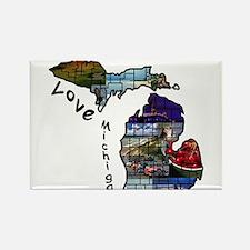 Love Michigan Magnets