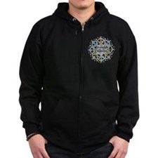 Juvenile Diabetes Lotus Zip Hoodie