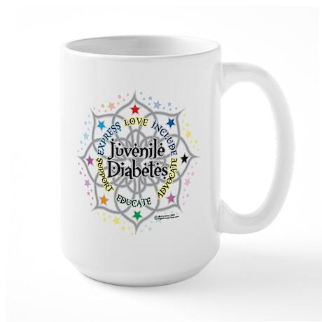 Juvenile Diabetes Lotus Large Mug