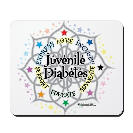 Juvenile Diabetes Lotus Mousepad