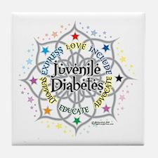 Juvenile Diabetes Lotus Tile Coaster