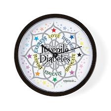 Juvenile Diabetes Lotus Wall Clock