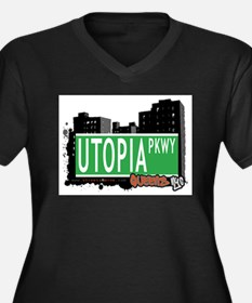 UTOPIA PARKWAY, QUEENS, NYC Women's Plus Size V-Ne