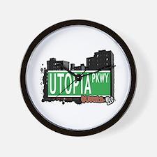 UTOPIA PARKWAY, QUEENS, NYC Wall Clock