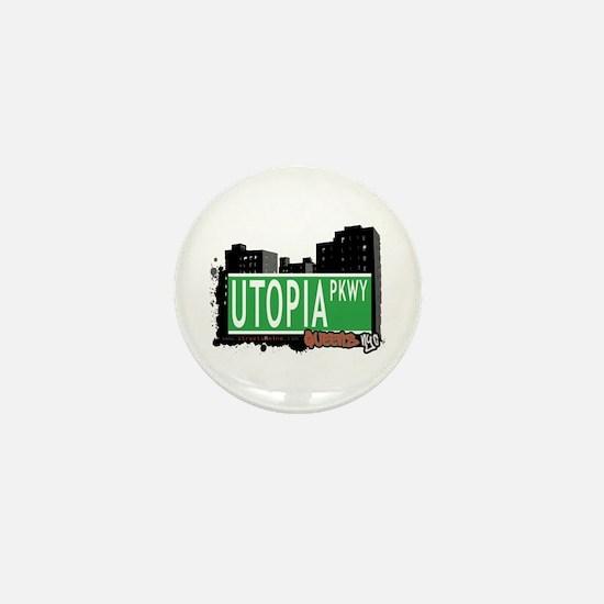 UTOPIA PARKWAY, QUEENS, NYC Mini Button
