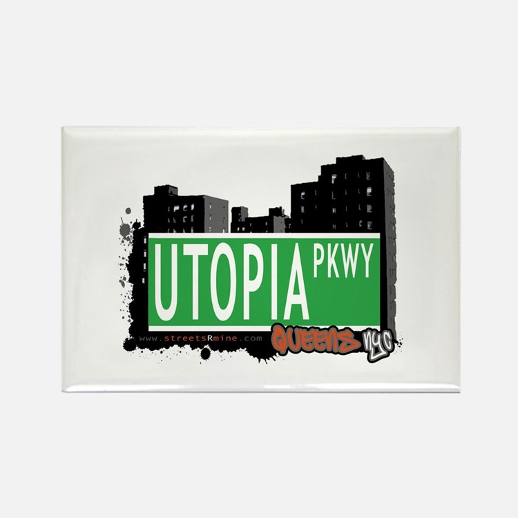 UTOPIA PARKWAY, QUEENS, NYC Rectangle Magnet