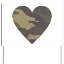 Camouflage Heart Military Valentine Yard Sign