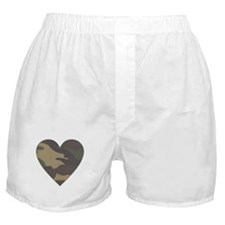 Camouflage Heart Military Valentine Boxer Shorts