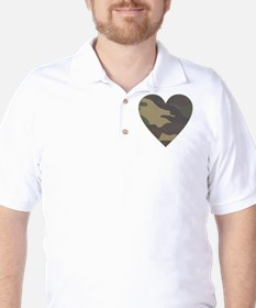 Camouflage Heart Military Valentine T-Shirt