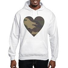 Camouflage Heart Military Valentine Hoodie