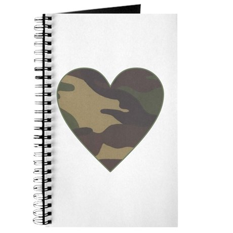 Camouflage Heart Military Valentine Journal