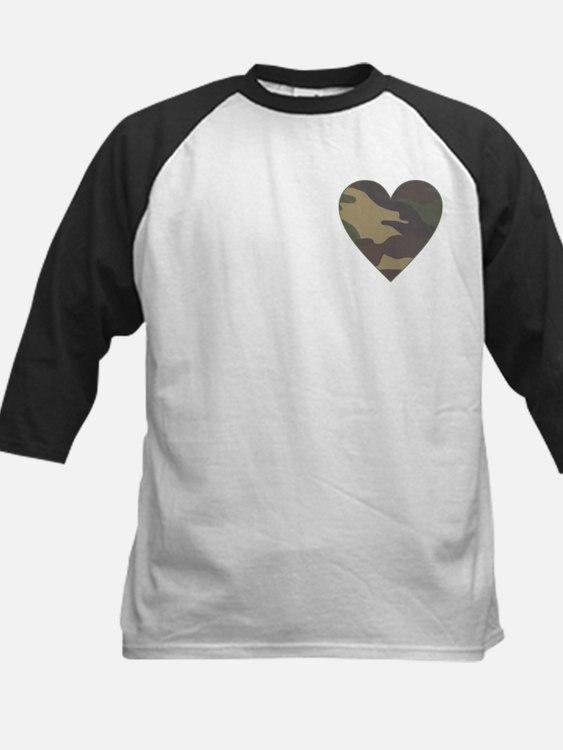 Camouflage Heart Military Valentine Tee