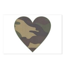 Camouflage Heart Military Valentine Postcards (Pac
