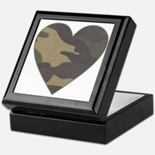 Camouflage Heart Military Valentine Keepsake Box