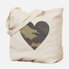 Camouflage Heart Military Valentine Tote Bag
