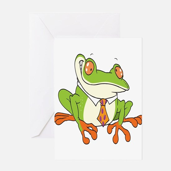 Dressed Up Frog Greeting Card
