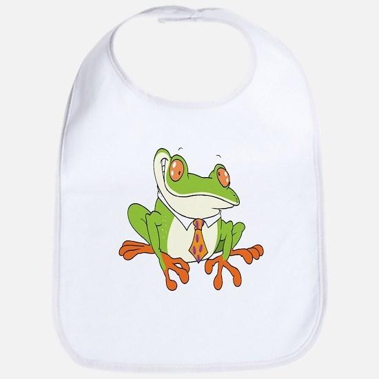 Dressed Up Frog Bib