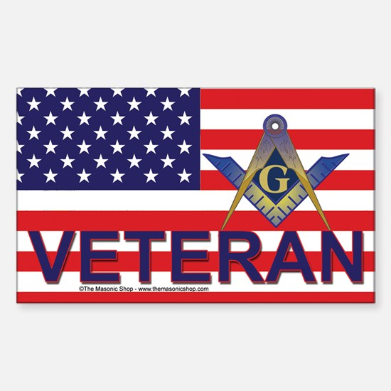 Masonic Veteran Decal