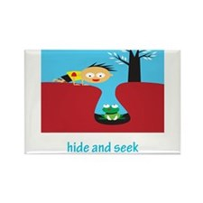 Hide And Seek Rectangle Magnet