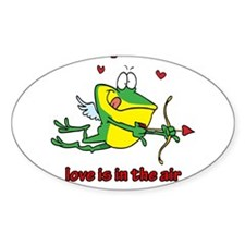 Love Is In The Air Oval Decal