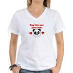 HUG THE ONE YOU LOVE Women's V-Neck T-Shirt