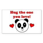 HUG THE ONE YOU LOVE Rectangle Sticker