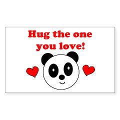 HUG THE ONE YOU LOVE Rectangle Sticker 50 pk)