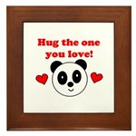 HUG THE ONE YOU LOVE Framed Tile