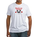HUG THE ONE YOU LOVE Fitted T-Shirt