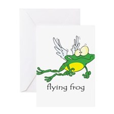 Flying Frog Greeting Card
