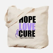 HopeLoveCure GeneralCancer Tote Bag