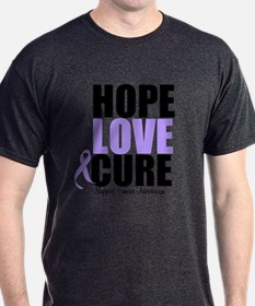 HopeLoveCure GeneralCancer T-Shirt