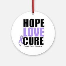 HopeLoveCure GeneralCancer Ornament (Round)