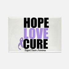 HopeLoveCure GeneralCancer Rectangle Magnet