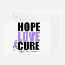 HopeLoveCure GeneralCancer Greeting Card