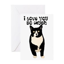 I love you from the cat Greeting Card
